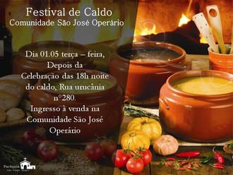 Festival de Caldo na Comunidade São José Operário.