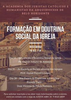 Inscrições para formação em Doutrina Social da Igreja