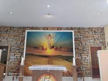 Nova iluminação e imagem para capela Maria, mãe do Bom Conselho