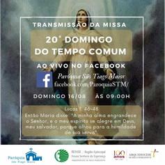Santa Missa transmitida pelo facebook