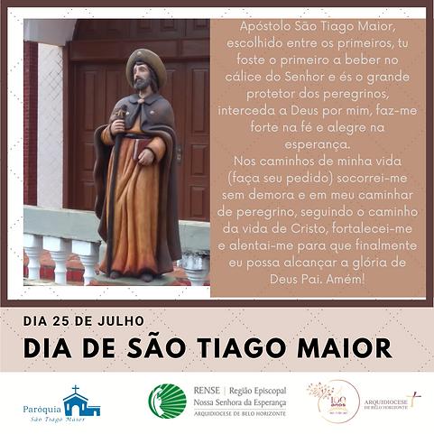 Apóstolo São Tiago Maior, escolhido entre os primeiros, tu foste o primeiro a beber no cál