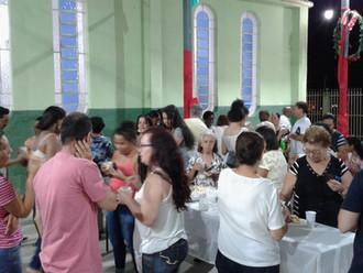 Confraternização após a Missa de Natal  na Comunidade  São José Operário