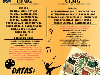 ATENÇÃO: O cartaz sobre as PROVAS DE HABILIDADES ESPECÍFICAS DA UFMG E UEMG está sendo republicado,