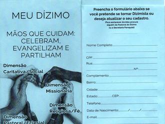 No mês do Dízimo nossa Paróquia faz campanha para novos dizimistas