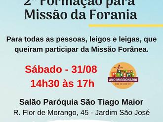 Missão Forânea terá preparação no próximo sábado no Salão Paroquial
