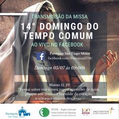 Transmissão da Santa Missa pelo facebook