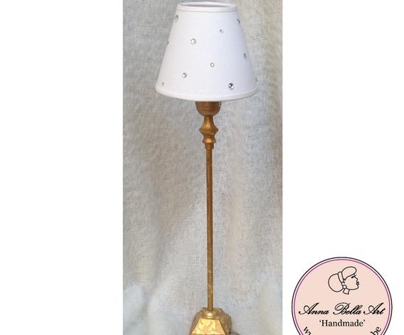 Art Line Tafellamp - wit-goud met Swarov