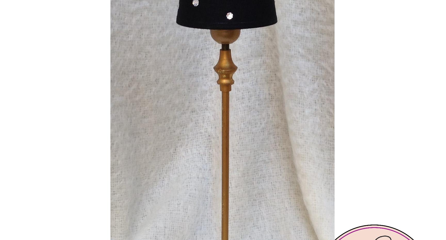 Art Line Tafellamp - zwart-goud met Swar