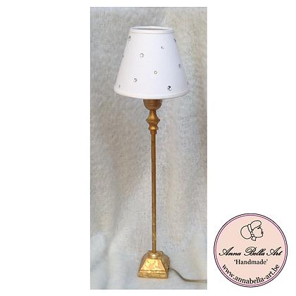 Tafellamp Wit-Goud met Swarovski