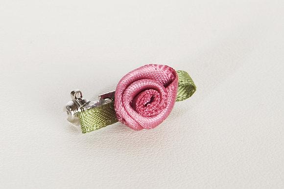 Little Anna Alina Sierspeld - Satijn roosje in alle kleuren