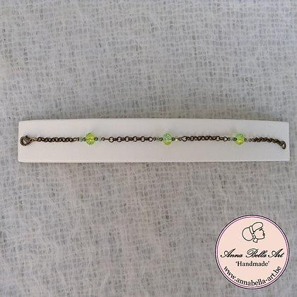 Anna Armband Groen - kristalparel-brons