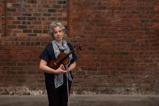 Bríd Glasgow at Sruth recording. Photo by Tain Media & Sean Purser