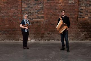 Bríd & Padruig Morrison Glasgow 2020 at Sruth recording. Photo by Tain Media & Sean Purser