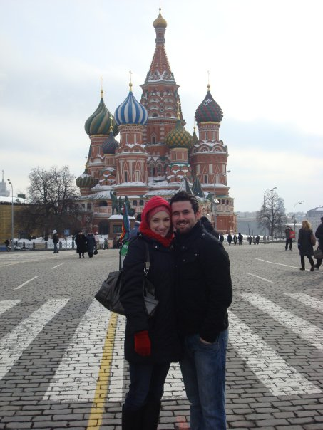 Erin and Andrew, Red Square