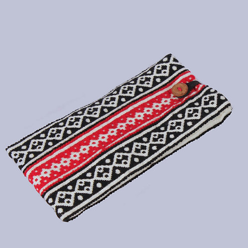 Black-White Hand Embroidered Toda Spectacle Case