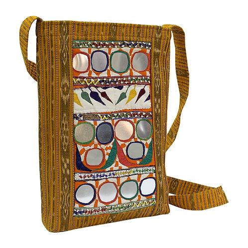 Mustard Handwoven Ikat Kutch Sling Bag
