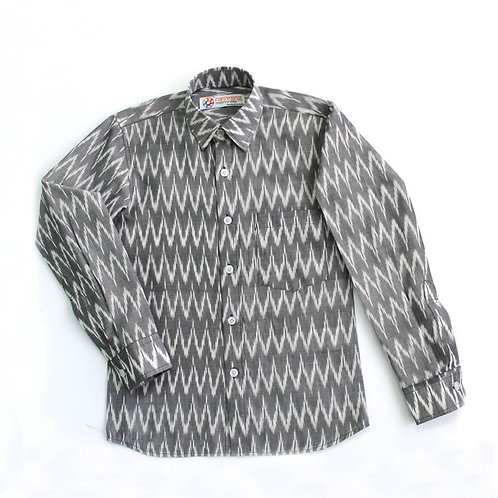 Handwoven Ikat Full Sleeve Shirt
