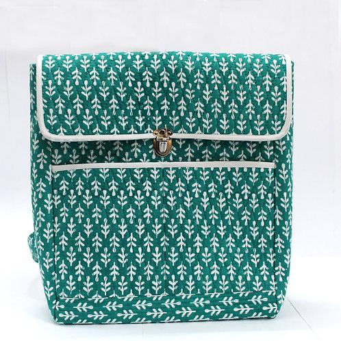 Green Printed Bagpack