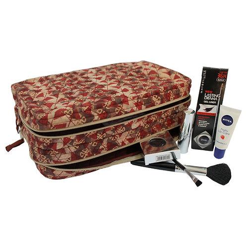 Handblock Printed Cosmetic/Shaving Kit