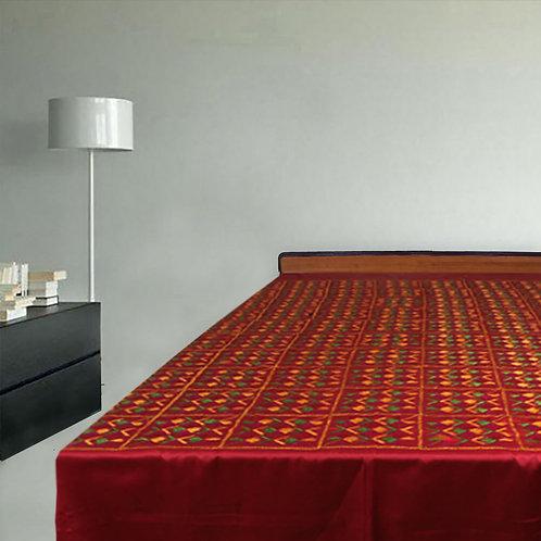 Phulkari Double Bedcover Glaze Cotton