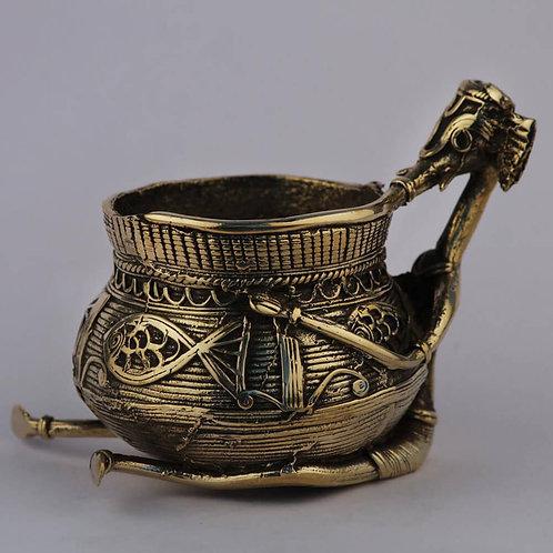 Dokra Craft Curio – Ganesha With Pot