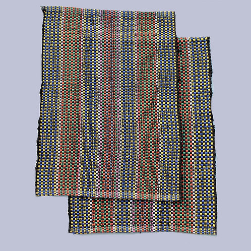 Multicoloured Handwoven Foot Mats (Set Of 2)