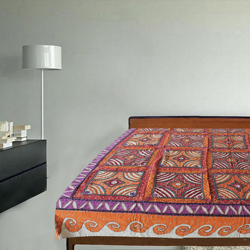 Multicoloured Hand Made Applique & Patch Work Kantha Stitch  Gudri