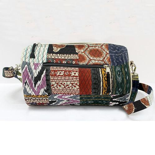 Patch Work Multi Color Handblock Printed Duffle Bag