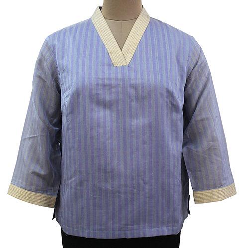 Lavender Handwoven Cotton Silk Top