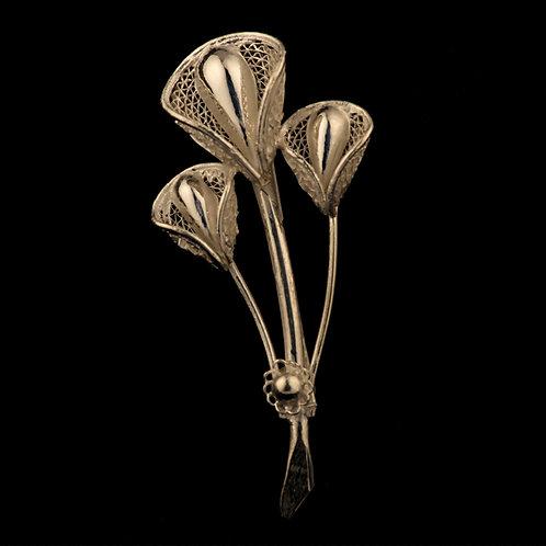 Filigree Silver Broach