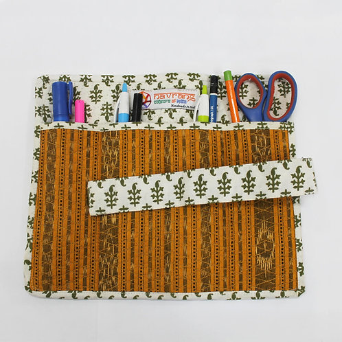 Multi Color Handwoven Ikat Stationary Kit