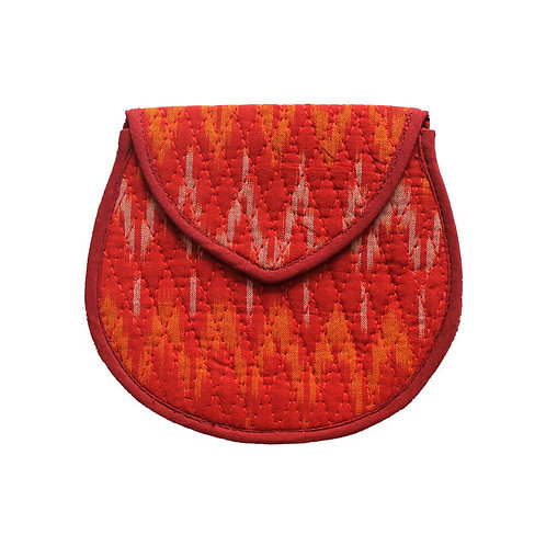Red Handwoven Coin Pouch