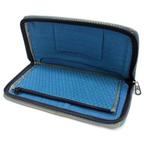 Blue Handwoven Quilted Organiser