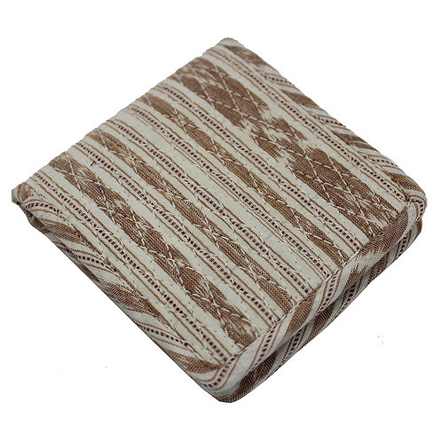 Brown Handwoven Ikat Wallet