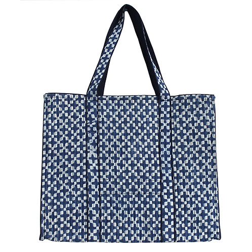Indigo HandBlock Printed Shopping Bag