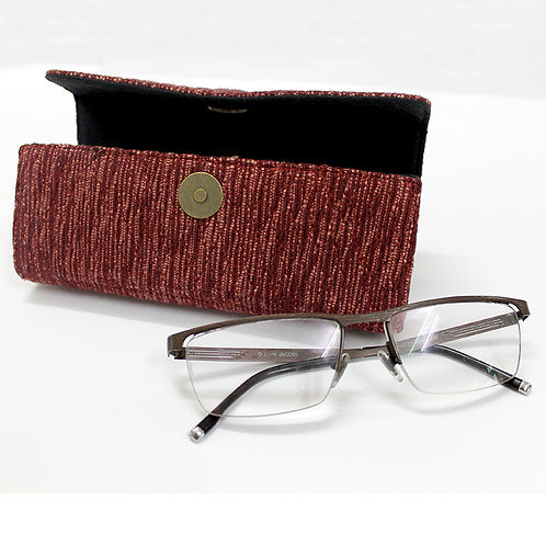 Maroon Handwoven Spectacle Case