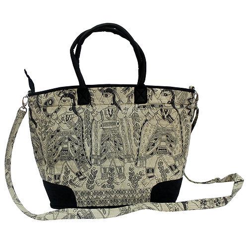 Madhubani Printed Tote Bag