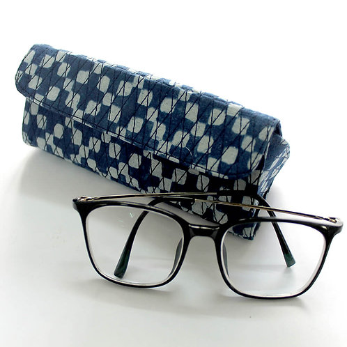 Indigo Block Printed Spectacle Case