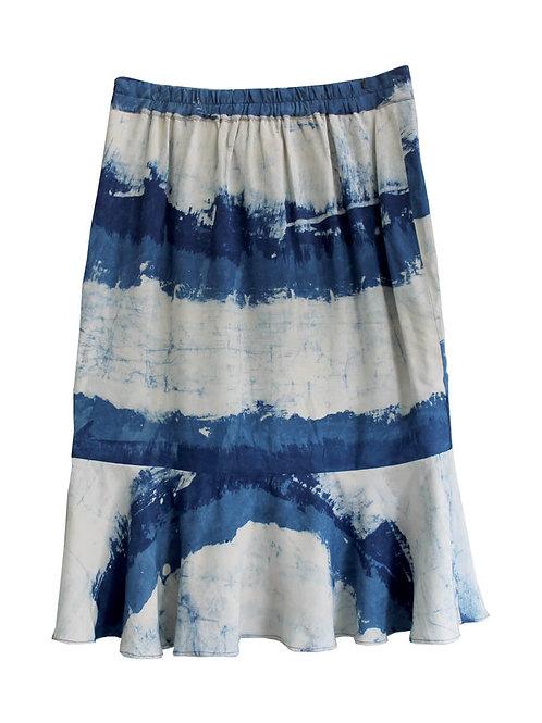 HandBlock Printed Skirt