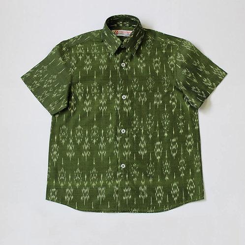 Handwoven Ikat Half Sleeve Shirt