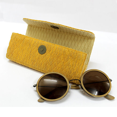 Yellow Handwoven Spectacle Case