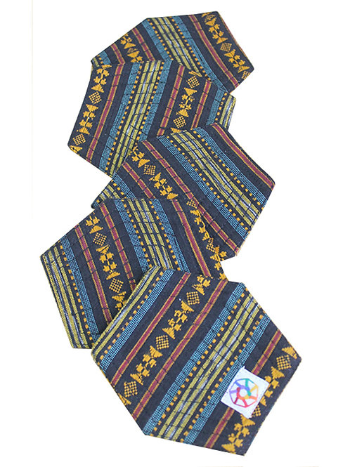 Multi Color HandWoven Ikat Coasters (Set of 6)