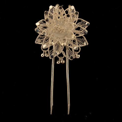 Filigree Silver Hair Pin