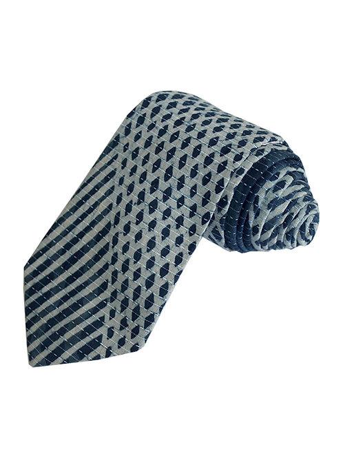 Indigo Handblock Printed Cotton Tie