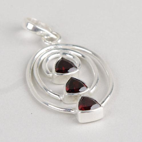 Sterling Silver & Garnet Pendant