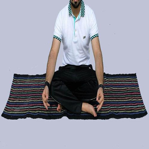 Multicoloured Handwoven Yoga Mats (Set Of 2)