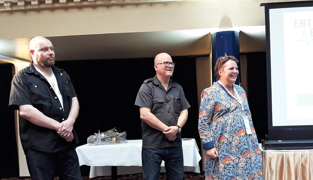 The jury: Antti Salminen, Juha Tynkkynen and Katarina Scott.