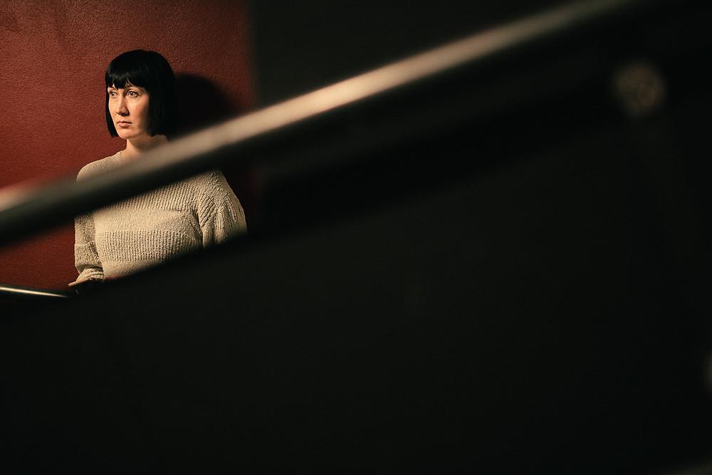Hanna Roisko Harriet-esityksen harjoituksia katsomassa vuonna 2019