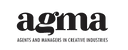 AGMA:n logo, mustalla paksulla tekstillä