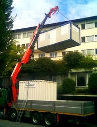 Container transportieren/platzieren